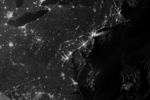 Earth from space: Night time view of a blackout in New York and New Jersey