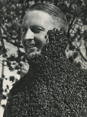 Michael Hoppen: Peter Wrinch-Schultz, Curiosities - Man with bees, 1950s