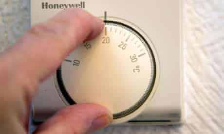 Turning down central heating thermostat