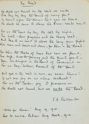 Suffragette letters: Violet Friedlaender