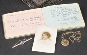 Suffragette letters: Suffragette autograph book