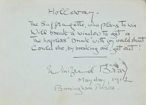 Suffragette letters: Winifred Bray