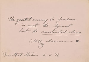 Suffragette letters: Kitty Marion