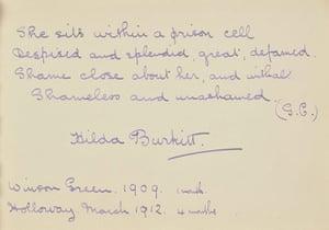 Suffragette letters: Hilda Burkitt