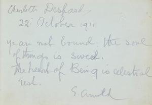 Suffragette letters: Charlotte Despard