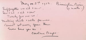 Suffragette letters: Constance Bryer