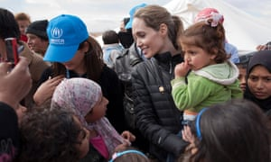 UNHCR Special Envoy Angelina Jolie meets with Syrian refugees at the Zaatari refugee camp in Jordan. UNHCR says that since Jolie's last visit to the region in September, the number of refugees in the region has increased by more than 200,000 and in Jordan alone by nearly 50,000.