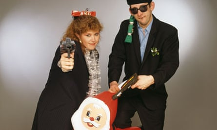 'It's for the underdog' … Kirsty MacColl and Shane MacGowan promote Fairytale of New York.