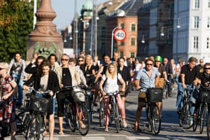 Healthiest cities: Group of cyclists jostle for position Copenhagen