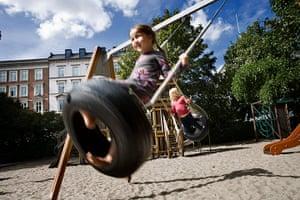 Healthiest cities: Kids Copenhagen tyre swing
