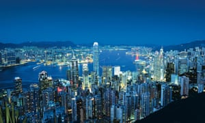 Healthiest cities: Hong Kong skyline at night