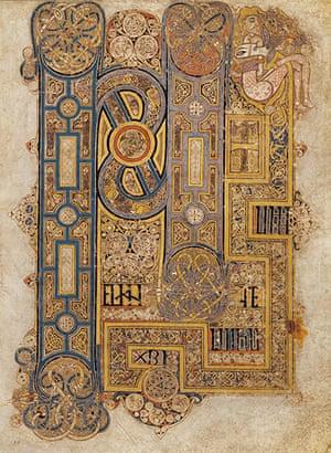 Book of Kells: The opening words of Mark's Gospel