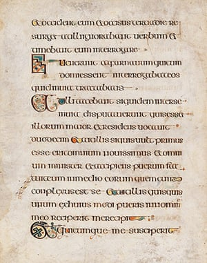Book of Kells: Jesus travels with the Apostles to Capharnaum