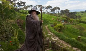 Ian McKellen as Gandalf in The Hobbit: An Unexpected Journey.