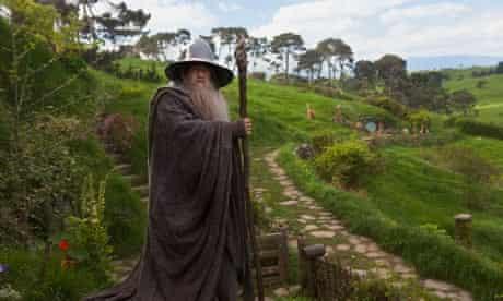 Ian McKellen as Gandalf in The Hobbit: An Unexpected Journey.