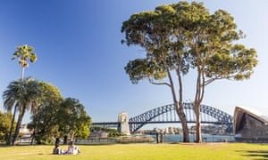 Sydney Royal Botanic Gardens Harbour Bridge