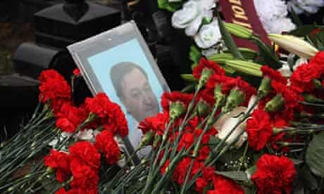 Russian lawyer Sergei Magnitsky's grave