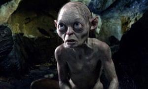 Gollum in the film of The Hobbit