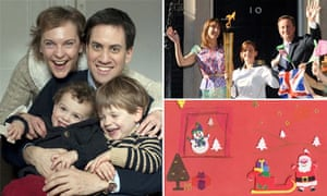 Party leaders' Christmas cards composite