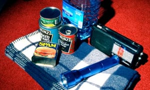 Survival kit as recommended by british government