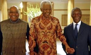 Jacob Zuma, Nelson Mandela and Thabo Mbeki