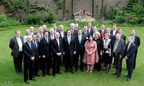 Warsi with the coalition cabinet, May 2010.