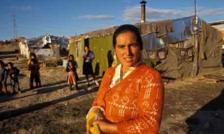 Gypsies in a shanty town in Madrid, Spain