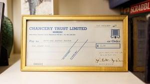 The Selby: Andrew Renton: cheque