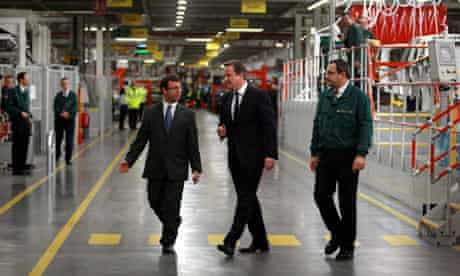 David Cameron visits Jaguar Land Rover plant
