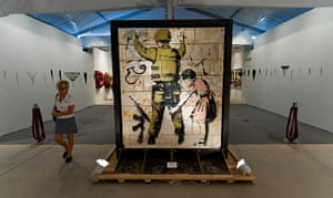 Art Basel:  'Stop and Search' by Banksy