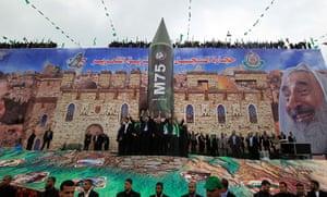 Hamas: Hamas leader in exile Khaled Meshaal and Hamas prime minister Ismail Haniya