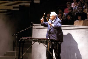 Patrick Moore playing the xylophone on television in 1987