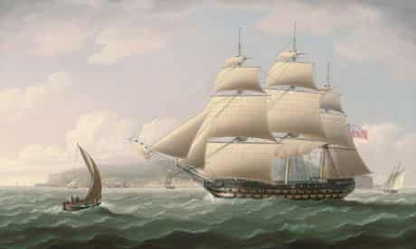 Thomas Butterworth's painting of the ship Dunira