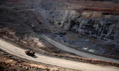 A copper mine in the Democratic Republic of Congo