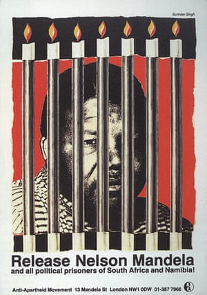 Mandela: A Release Nelson Mandela poster from The Anti Apartheid Movement