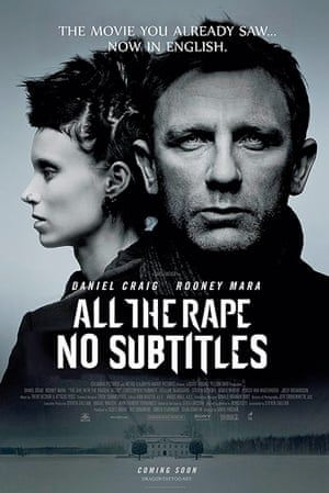 Mock movie posters: The Girl With The Dragon Tattoo