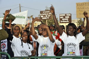 """Protest in Senegal: Supporters of the """"M23"""""""
