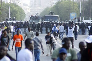 Protest in Senegal: -