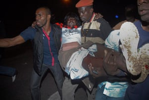 Protest in Senegal: Pre-election opposition protest in Dakar ,Senegal