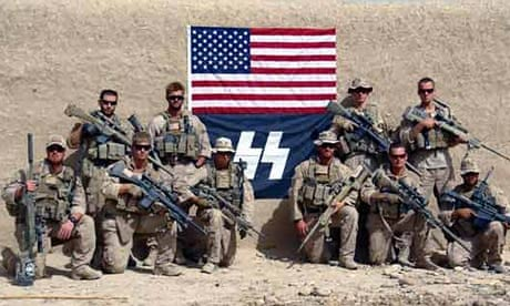 Us Marines In Fresh Controversy Over Sniper Team Photo With Nazi Ss