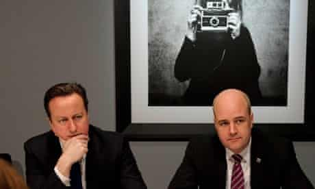 David Cameron and Swedish Prime Minister Reinfeldt