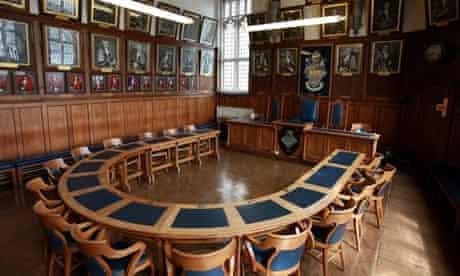 The council chamber for Bideford, Devon