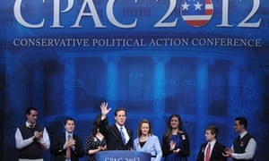 Rick Santorum and his family at CPAC