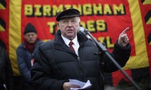 Arthur Scargill Attends The Memorial Of The Battle Of Saltley Gate