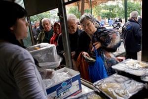 Athens: soup kitchen