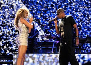 """Beyonce Jay-Z Baby: Jay-Z and Eminem """"Home & Home"""" Concert - New York - Show"""