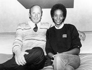 Whitney Houston obit: 1979: Whitney Houston with producer Clive Davis