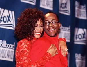 Whitney Houston obit: 1993: Whitney Houston and Bobby Brown