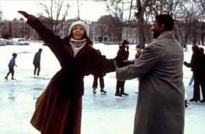 Whitney Houston obit: 1996: Whitney Houston & Denzel Washington in 'The Preacher's Wife'