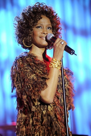 Whitney Houston obit: 2009: Whitney Houston performs at the Grammy Salute to Industry Icons